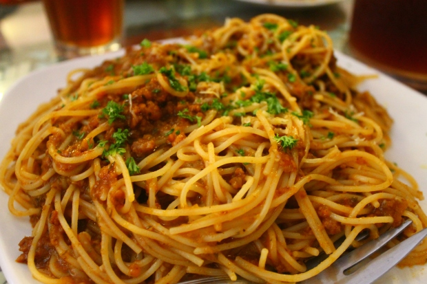 Pasta Noodles in meat sauce